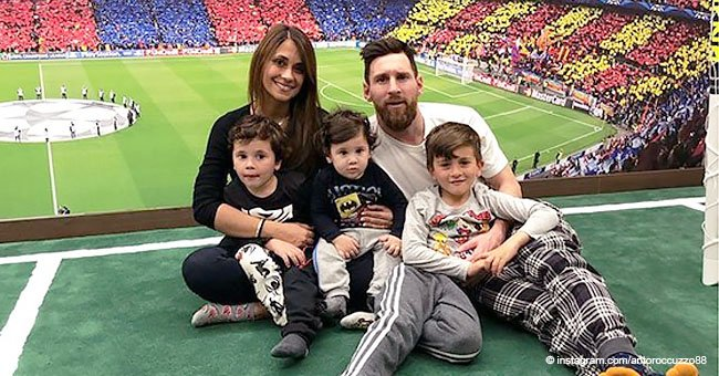Lionel Messi celebró el primer cumpleaños de su hijo menor, que es la viva copia de su padre
