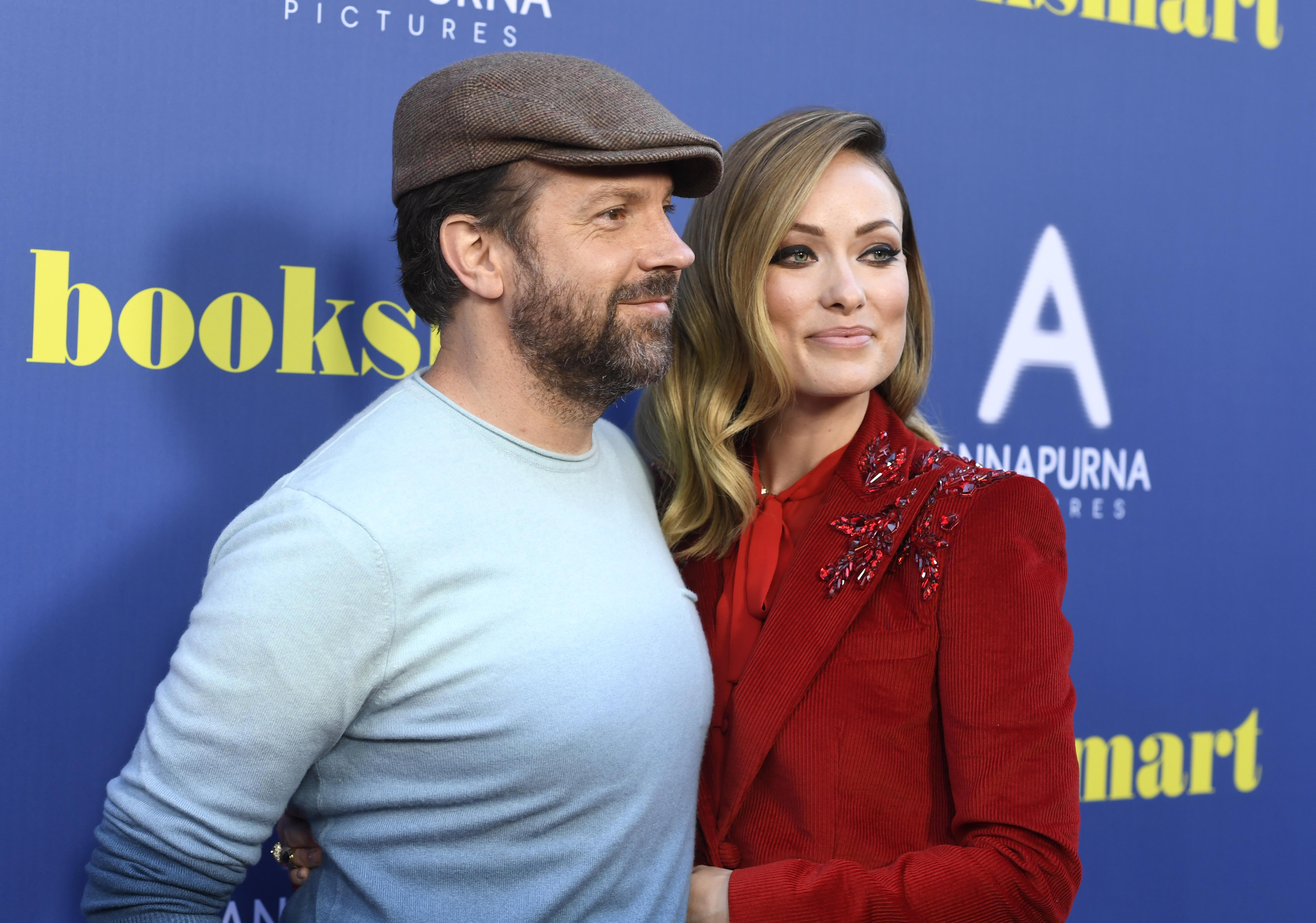"""Olivia Wilde and Jason Sudeikis at the screening of """"Booksmart"""", which Wilde directed,  in Los Angeles on May 13, 2019. 