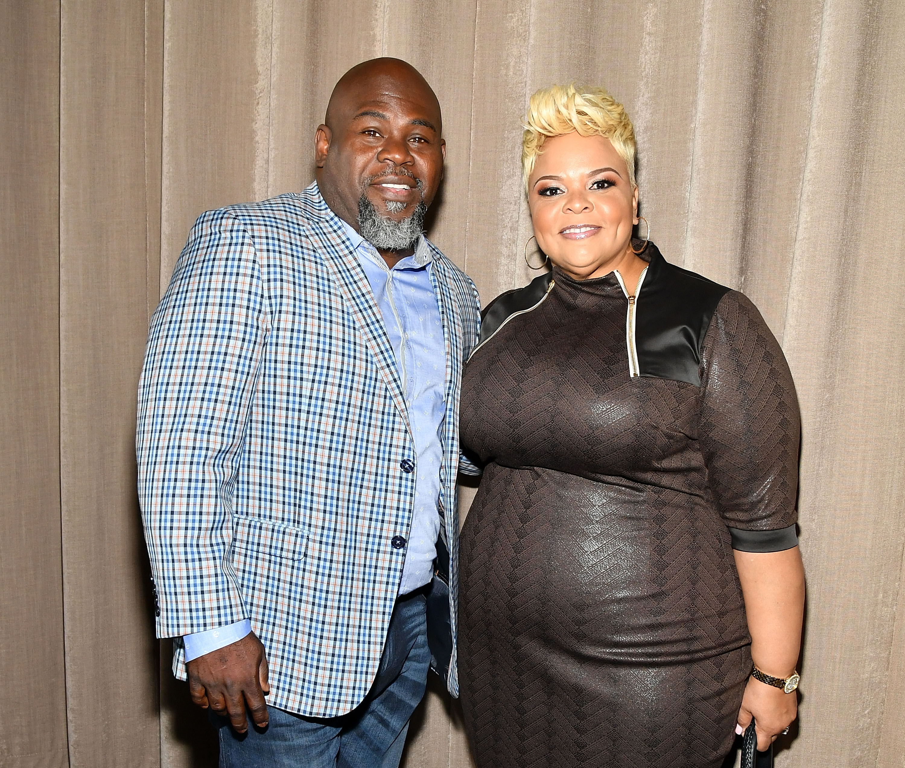 David and Tamela Mann attend TV One Upfront press junket  on April 20, 2017 | Photo: Getty Images