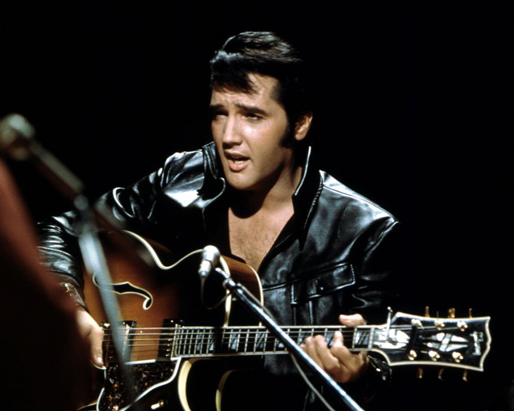 Elvis Presley performing on the Elvis comeback TV special on June 27, 1968,   Photo: Getty Images
