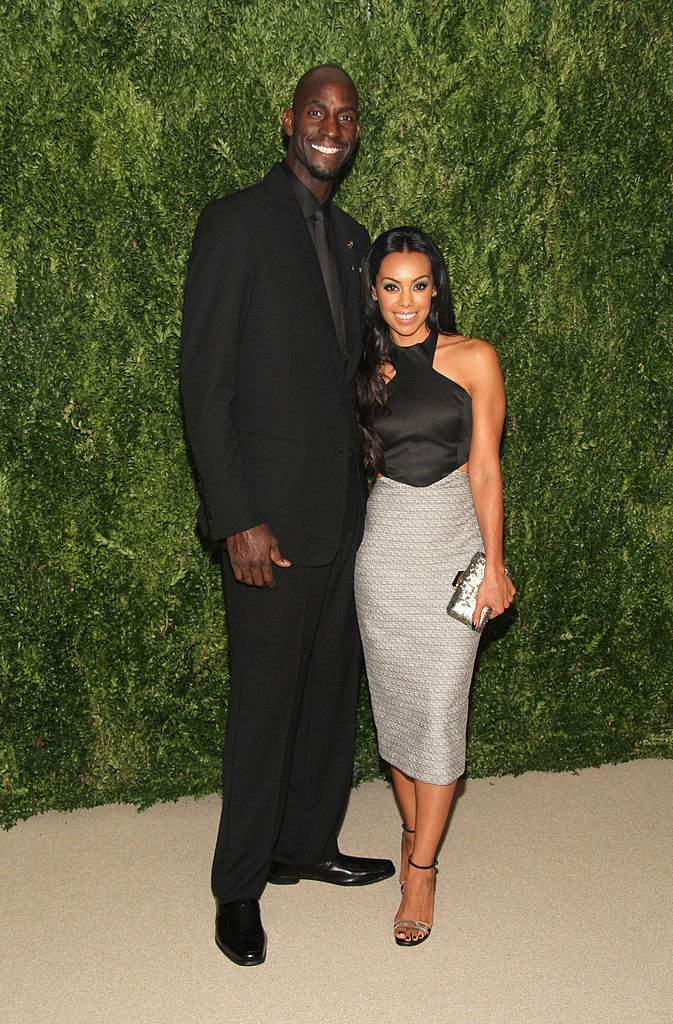 Kevin Garnett and Brandi Padilla attending the CFDA and Vogue 2013 Fashion Fund Finalists Celebration in New York on November 11, 2013. | Source: Getty