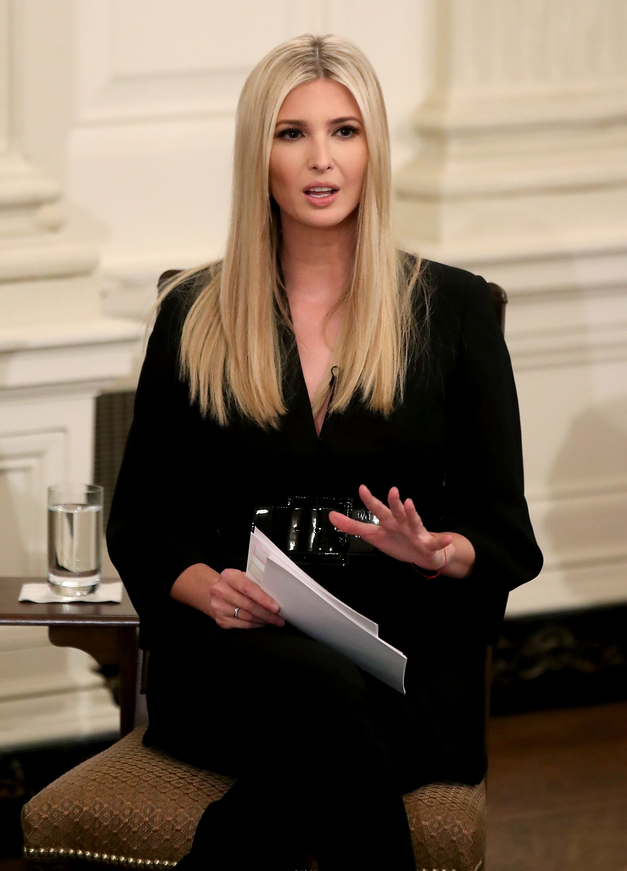 Ivanka Trump in the State Dining Room of the White House on Oct. 31, 2018 in Washington, DC. | Photo: Getty Images