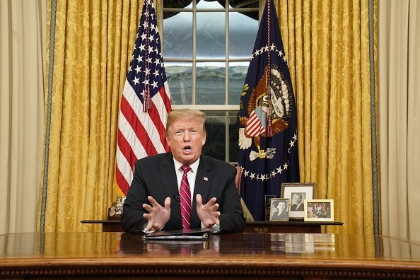U.S. President Donald Trump in the Oval Office.   Photo: Getty Images