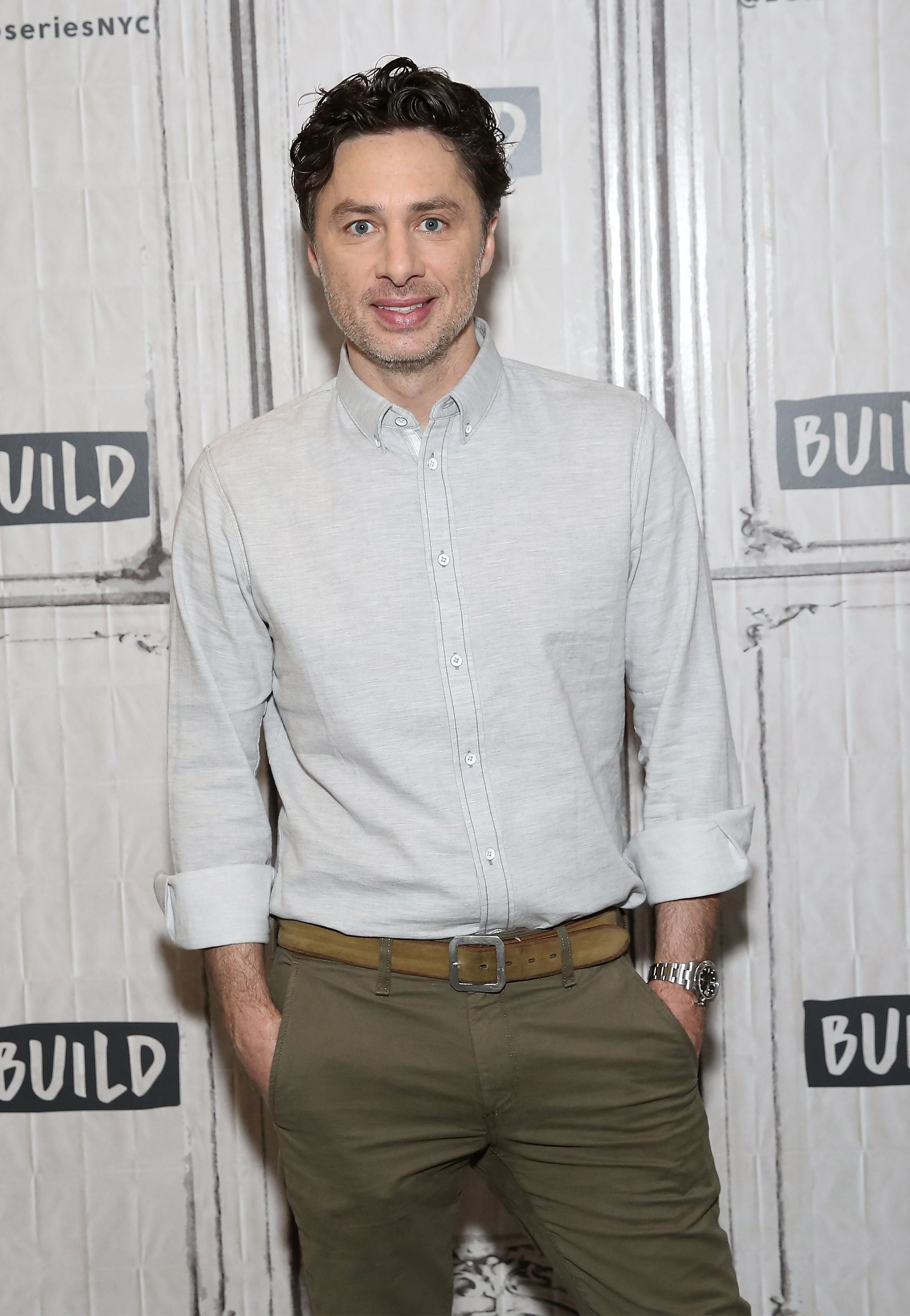 Zach Braff visits Build Studio on April 4, 2018, in New York City | Photo: Monica Schipper/Getty Images