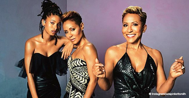 Jada Pinkett-Smith, daughter & mom make hearts race in red dresses for Essence Magazine cover
