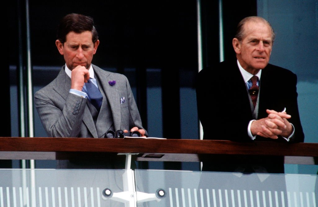 Prince Philip And Prince Charles watching the Racing at the Derby Held at Epsom In Surrey on June 02, 1993 | Photo: Getty Images