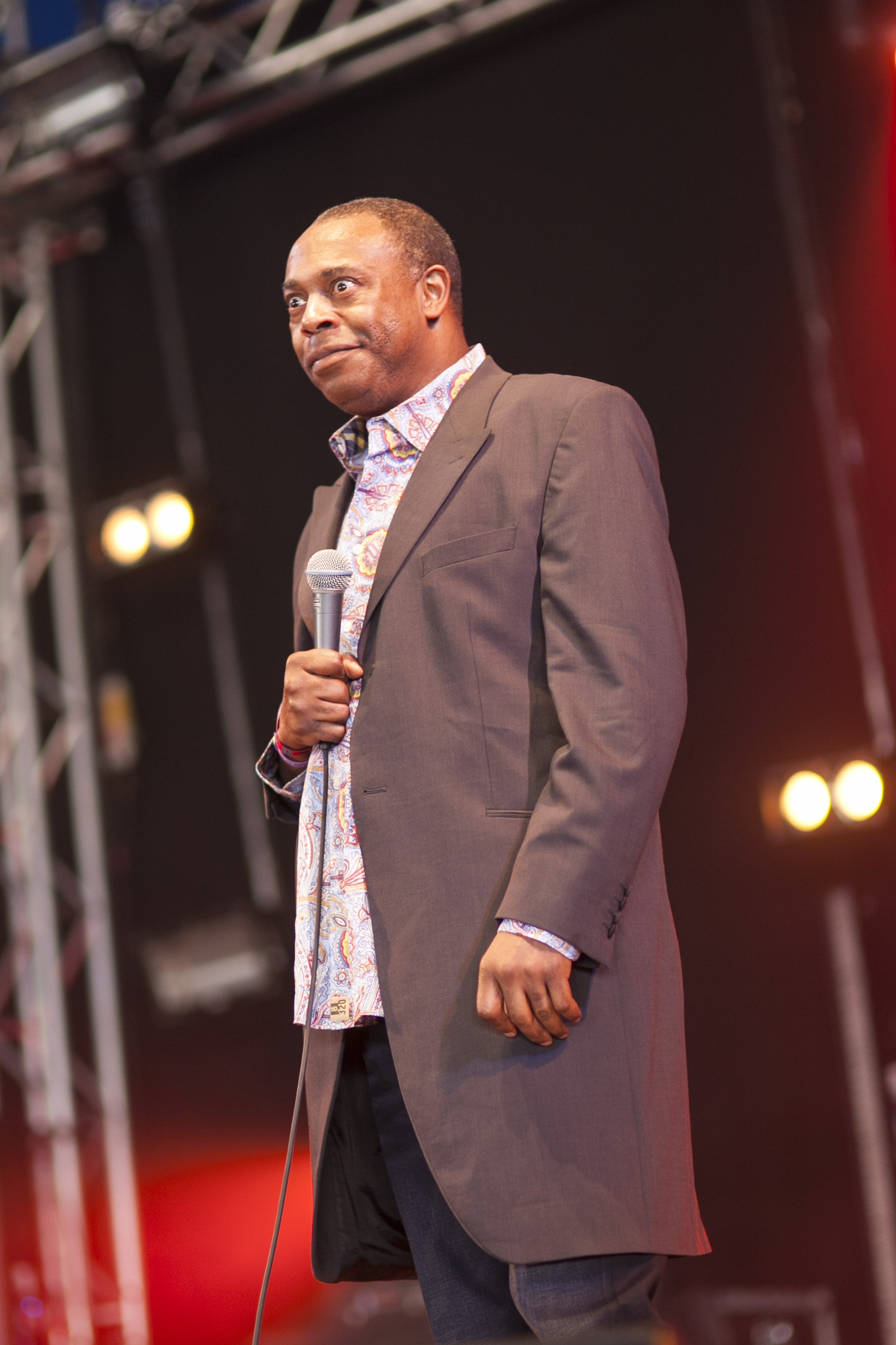 Actor Michael Winslow performing at Camp Bestival at Lulworth Castle in Wareham, England   Photo: Getty Images