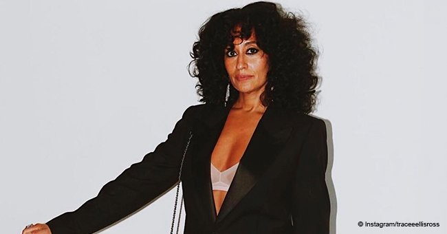 Tracee Ellis Ross channels mom Diana Ross as she rocks curly hair & revealing suit in new pic