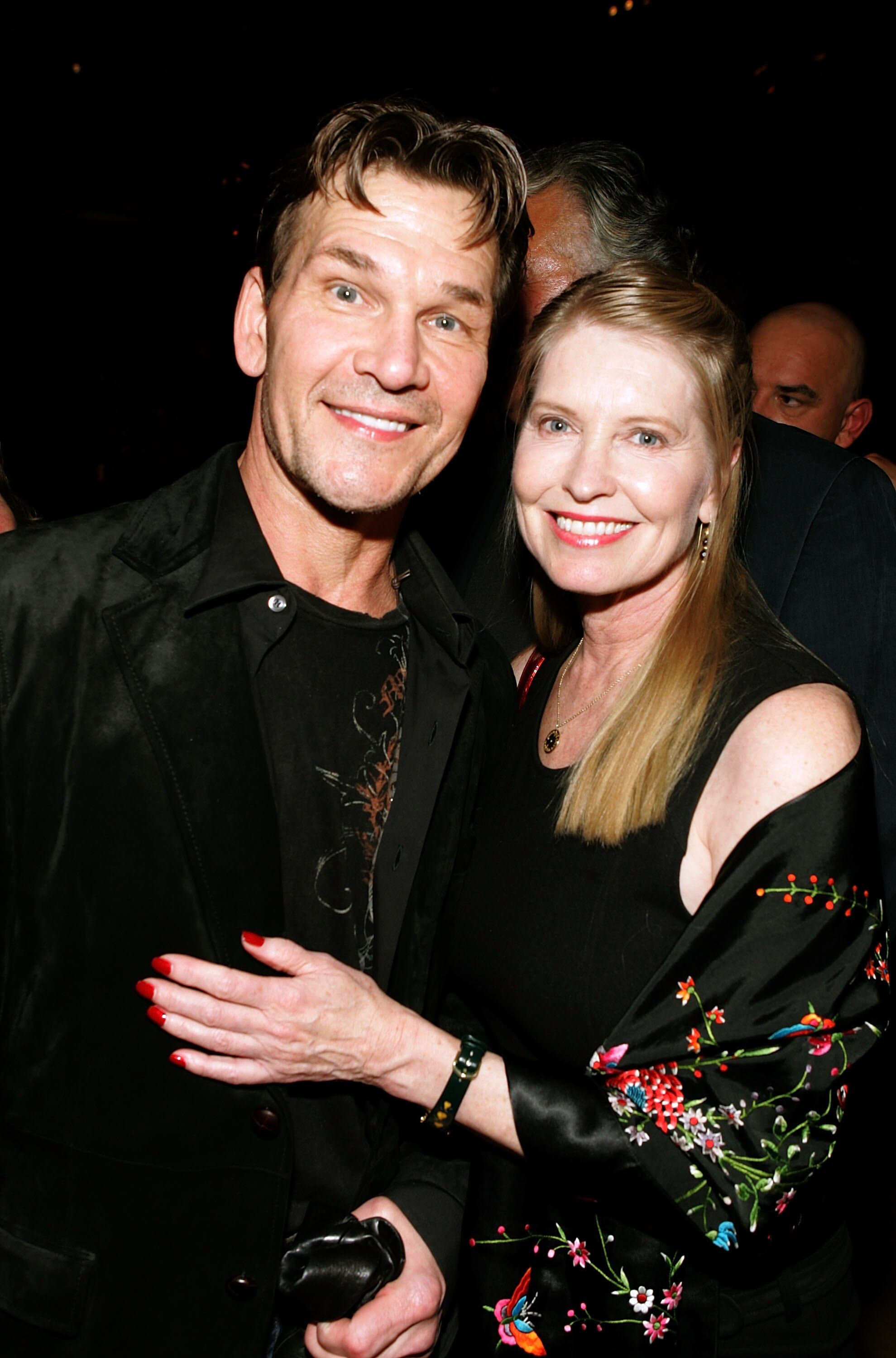 Patrick Swayze and Lisa Niemi at a red carpet event. | Source: Getty Images