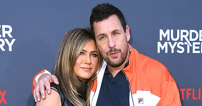"""Adam Sandler and Jennifer Aniston attend the LA screening of """"Murder Mystery,"""" 2019 