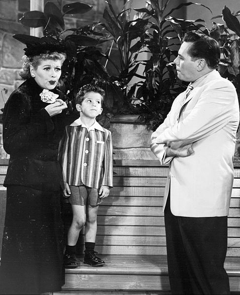 "Lucille Ball, Richard Keith and Desi Arnaz from the television program ""I Love Lucy."" 