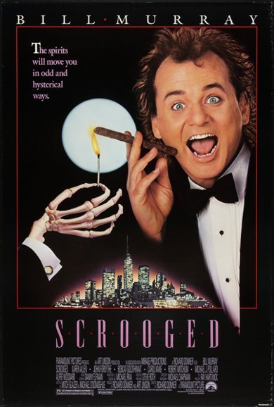 """Poster for the 1988 movie """"Scrooged"""" in which Mabel King co-starred with Bill Murray 