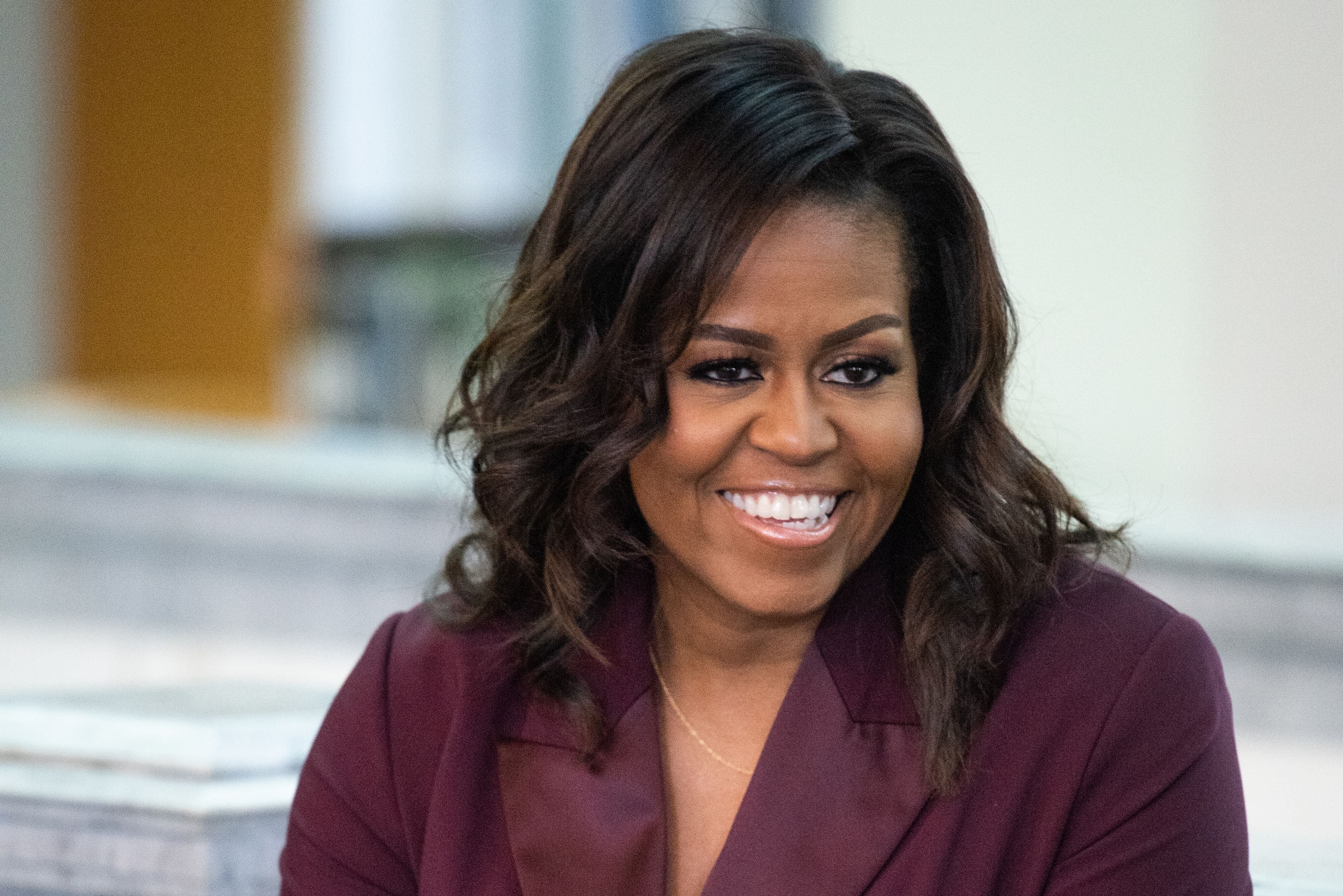 """Michelle Obama promoting her book, """"Becoming"""" in Tacoma, Washington in March 2019. 