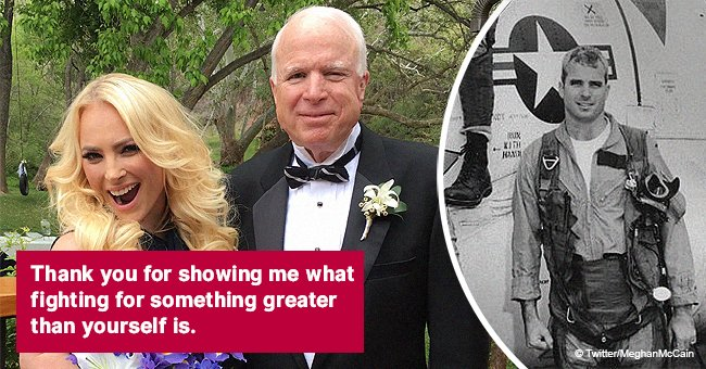 Meghan McCain honors late father with a rare photo from the family archives on Veterans Day