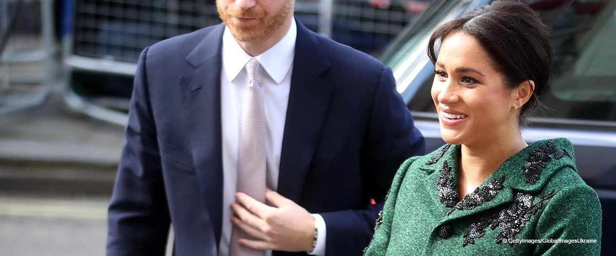 Meghan Markle Turns Heads in a Glitzy Green Coat, but There's No Engagement Ring on Her Finger