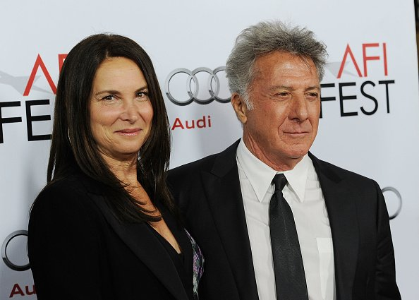 """Dustin Hoffman and Lisa Gottsegen arrive at """"Barney's Version"""" screening on November 6, 2010, in Hollywood, California. 
