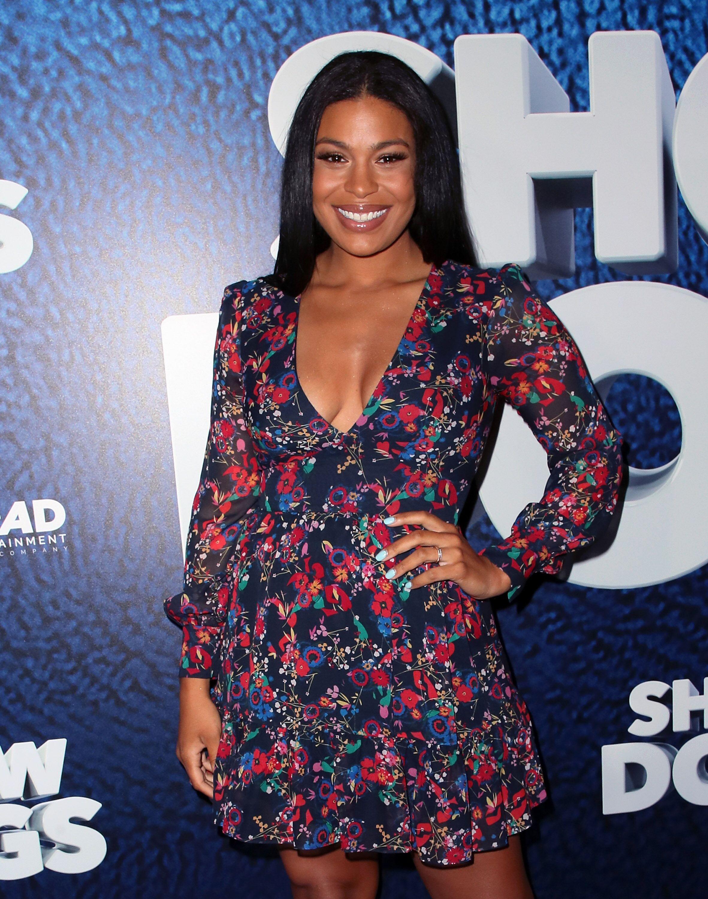 """Jordin Sparks attending the 2018 cop comedy """"Show Dogs"""" movie premiere 