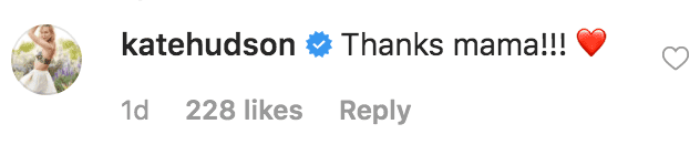 "Kate Hudson thanks her mother Goldie Hawn for posting a congratulatory messages for her podcast with Oliver Hudson, ""Sibling Rivalry,"" reaching number on Apple podcasts. 