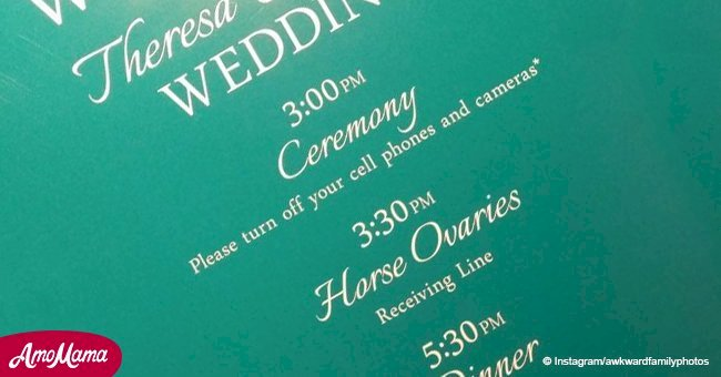 Friends find hilarious mistake on couple's wedding invitation