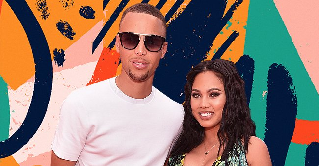 Stephen Curry's Wife Shows Her Stylish Look Posing in Milk-Colored Pants with Thin Black Belt