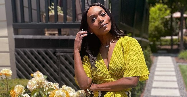 See Angela Bassett, 62, Showing off Cleavage in Plunging Yellow Top & Floral Pants