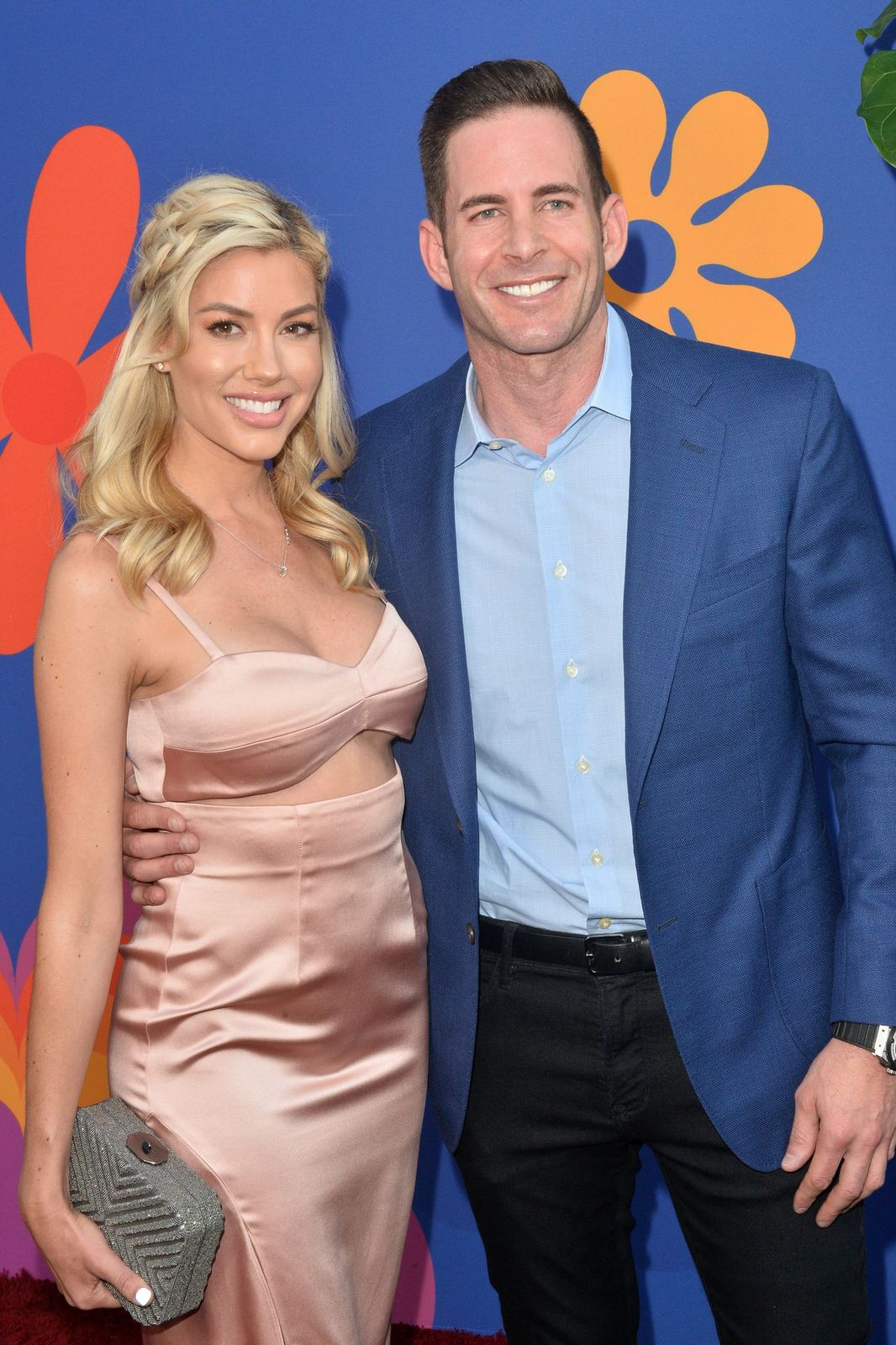 Heather Rae Young and Tarek El Moussa at the premiere of HGTV's 'A Very Brady Renovation' at The Garland Hotel on September 05, 2019   Photo: Getty Images