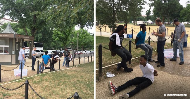 Three black teens were handcuffed for selling water without a permit on the National Mall