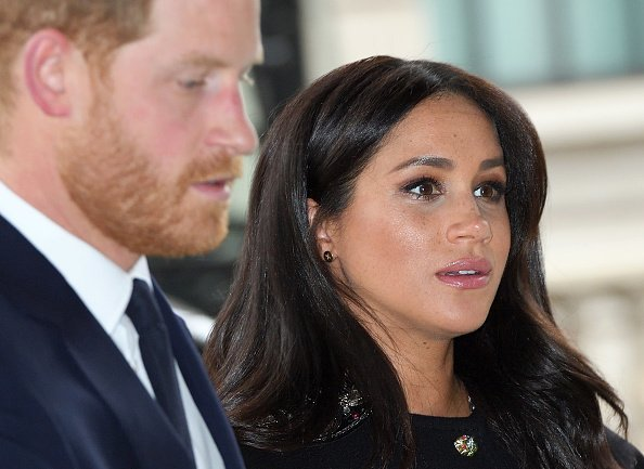Prince Harry and Meghan at New Zealand House  in London, England. | Photo: Getty Images.