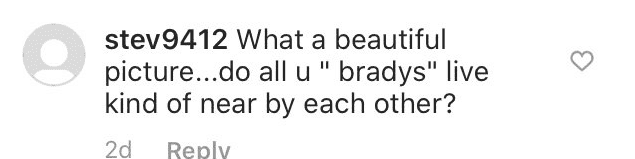 Another fan comment on Maureen's post   Instagram: @momccormick7