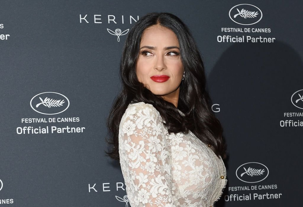 Salma Hayek Pinault at Kering Talks Women In Motion At The Cannes Film Festival at the Majestic Barriere on May 13, 2018   Photo: Getty Images
