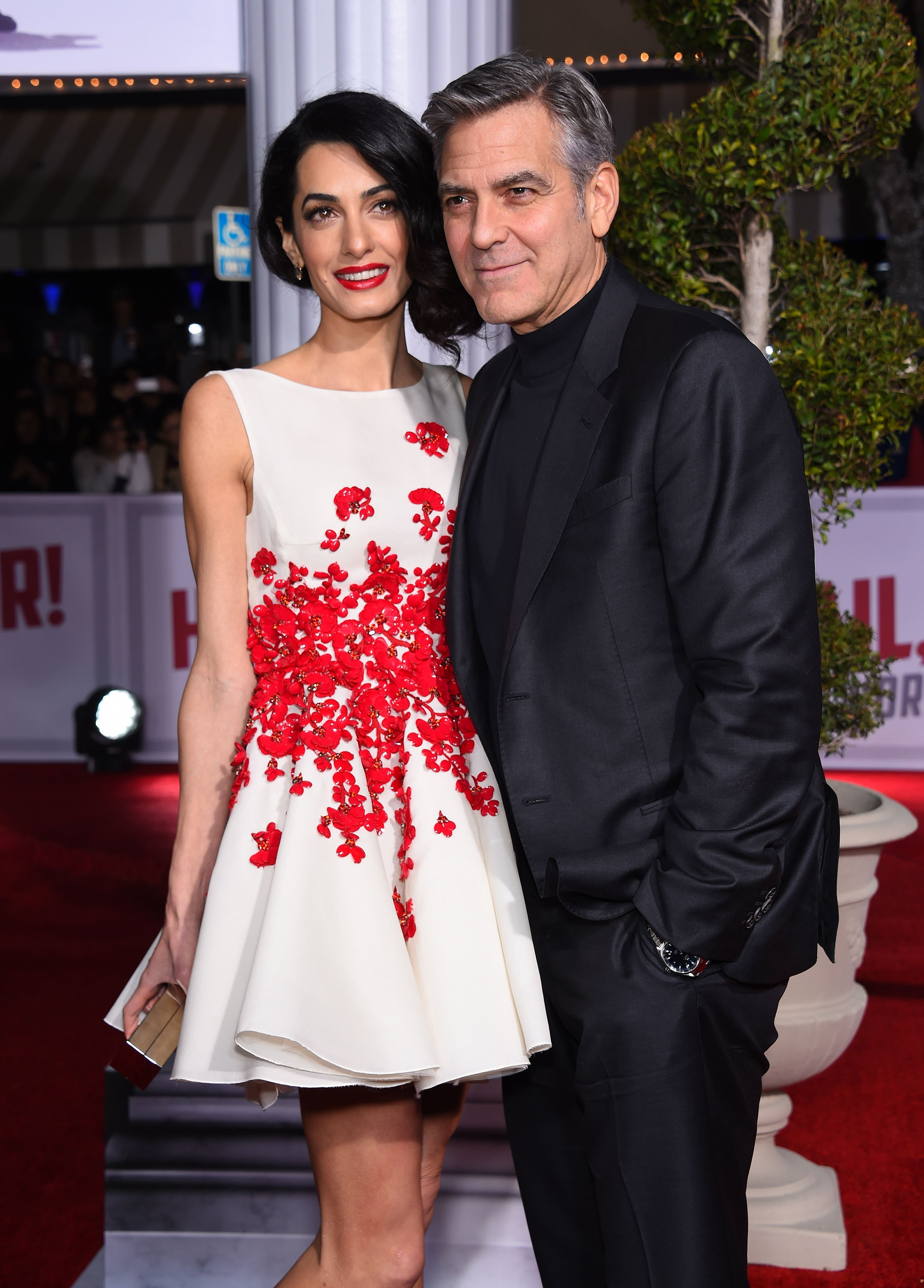 """George Clooney & Amal Alamuddin arrives to the """"Hail, Caesar"""" World Premiere on February 01, 2016 in Westwood, CA. 