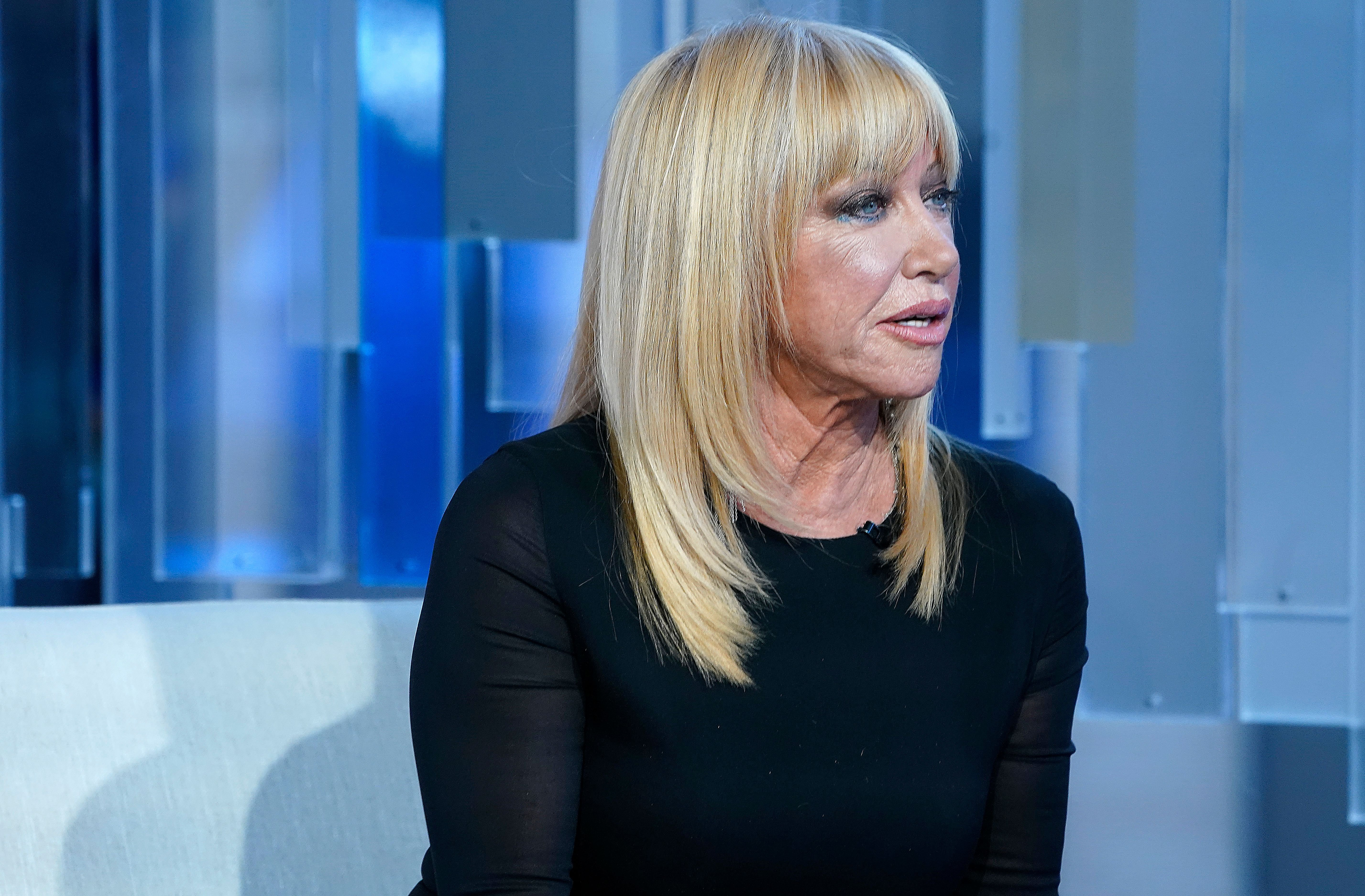 Suzanne Somers in an interview at Fox Business Network Studios on January 09, 2020 in New York City | Photo: Getty Images