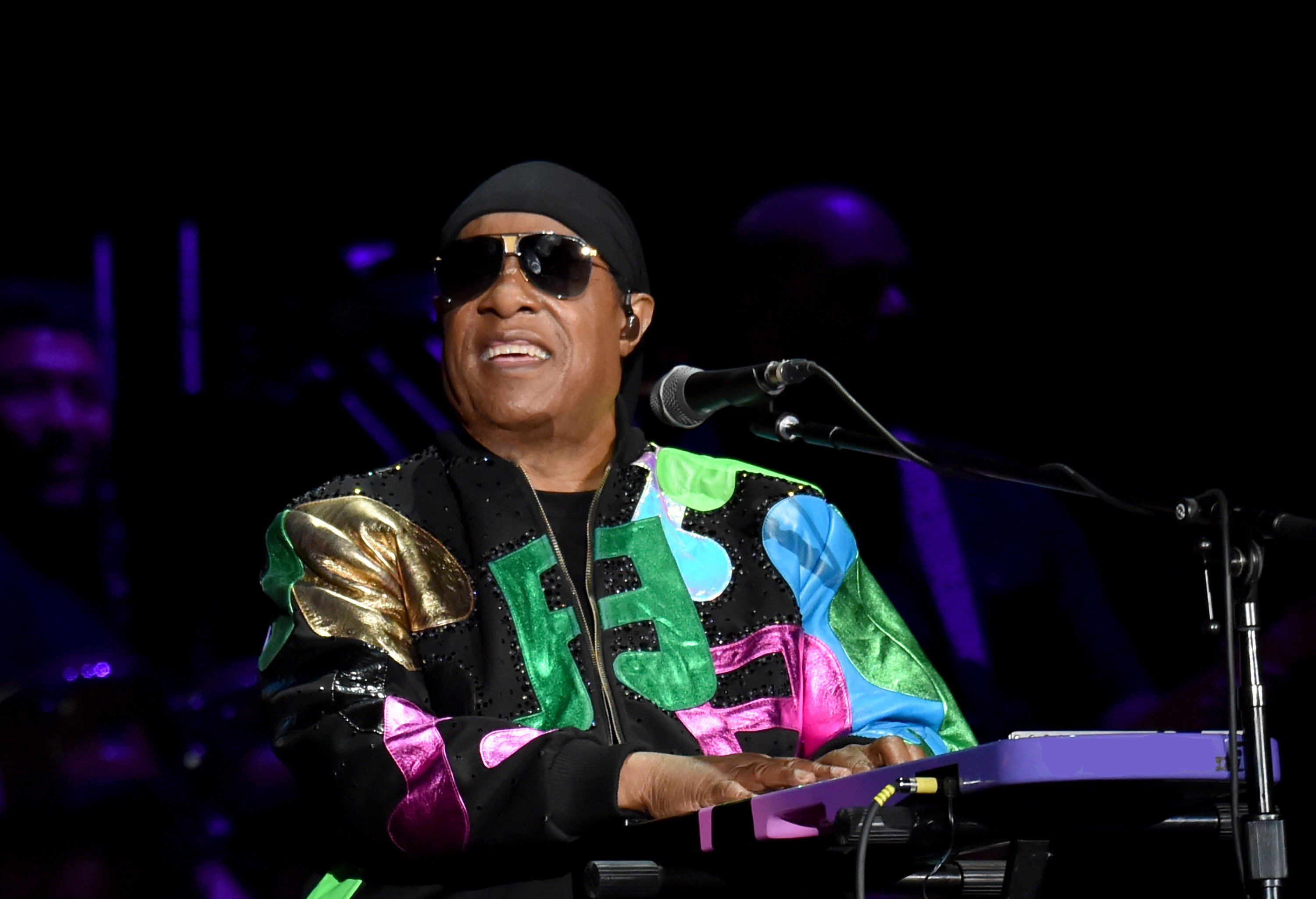 Stevie Wonder at the British Summer Time Hyde Park concert in 2019 in London, England. | Photo: Getty Images