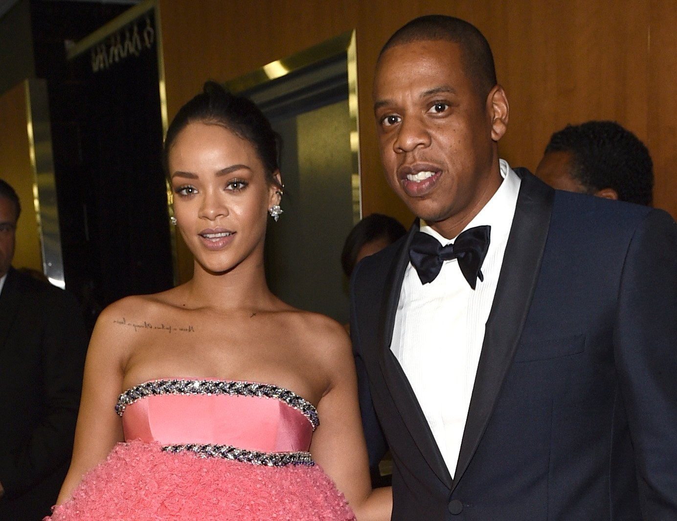 Rihanna and Jay-Z at the 57th Annual Grammy Awards in February 2015. | Photo: Getty Images