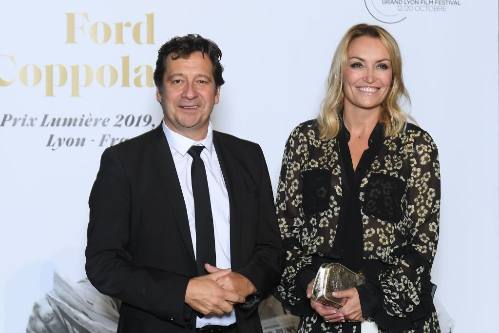 Laurent Gerra et Christelle Bardet assistent à l'hommage à Francis Ford Coppola lors du 11ème Festival du Film Lumière le 18 octobre 2019 à Lyon, France. | Photo : Getty Images.
