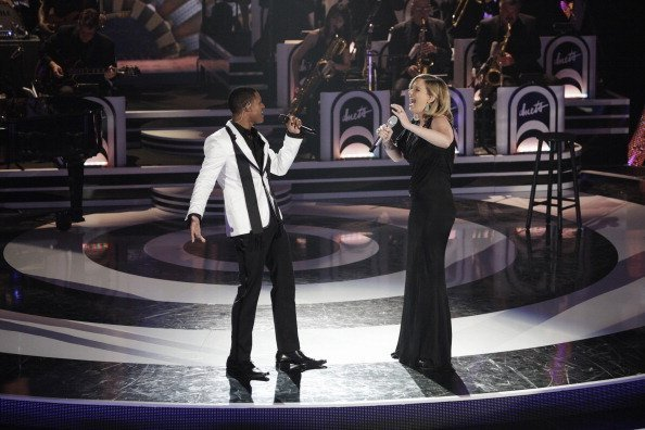 - Superstars Kelly Clarkson, John Legend, Jennifer Nettles and Robin Thicke, take the stage with their remaining Duet partners for an evening of standards from the Golden Age of music | Photo: Getty Images
