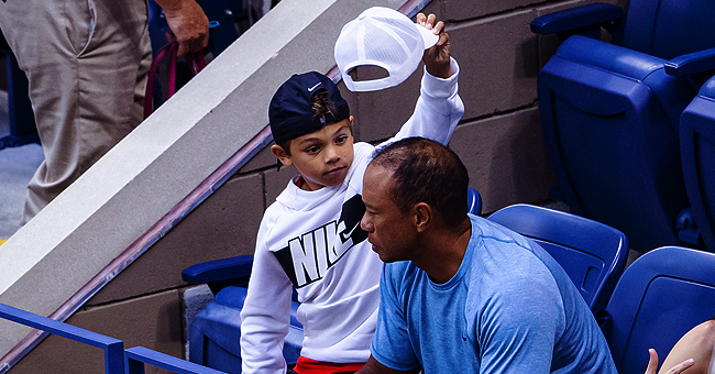 Tiger Woods, His Son Charlie, and Girlfriend Erica Herman All Attended the Us Open to Cheer on Serena Williams