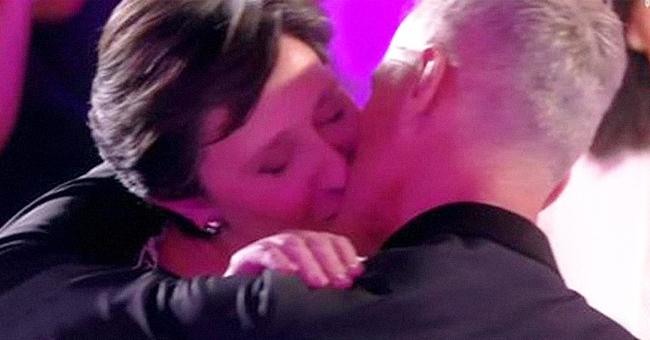 Danielle Moreau embrasse Patrick en plein direct sur C8