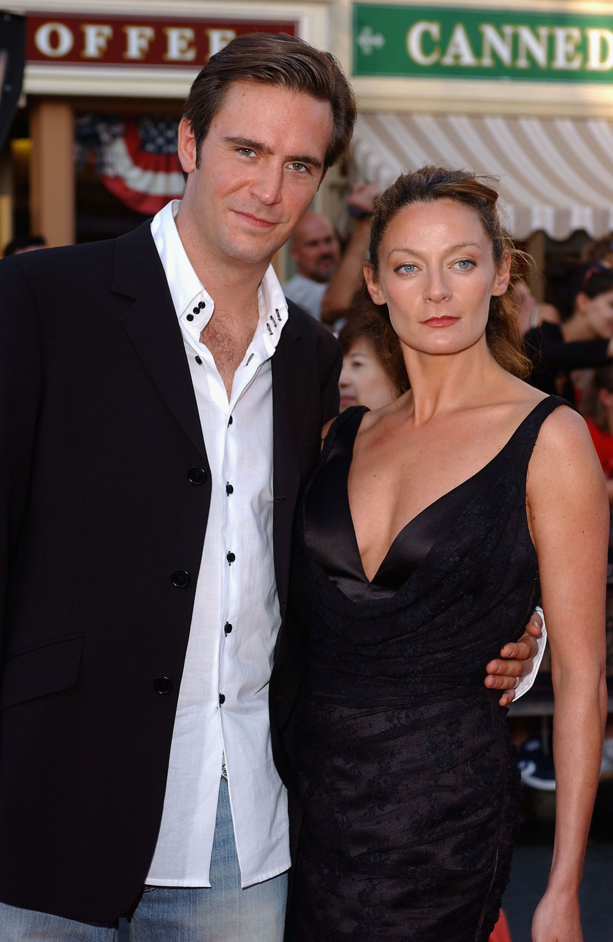 """Jack Davenport and Michelle Gomez at the world premiere of """"Pirates of the Caribbean: The Curse of the Black Pearl"""" in 2003 in Anaheim, California 