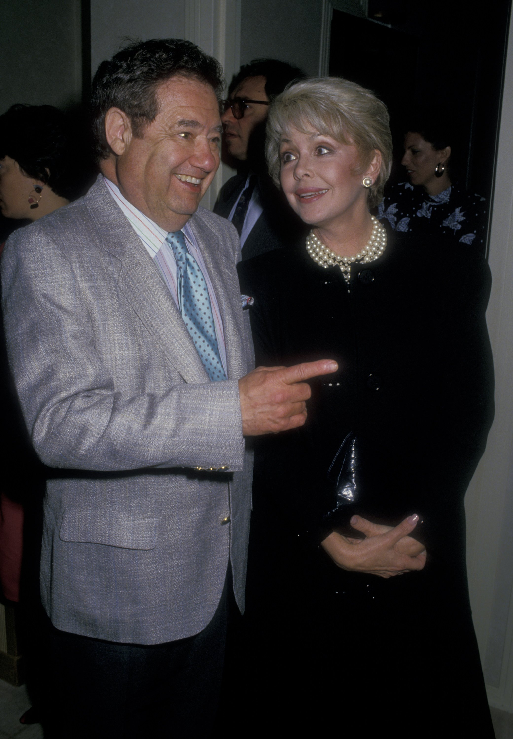"""Warren Cowan and Barbara Rush at the opening party for """"Sleuth"""" on July 6, 1988, at St. James Club in Beverly Hills, California 