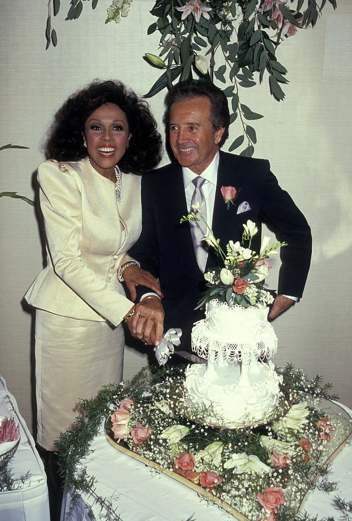 Diahann Carroll and Vic Damone during Wedding of Diahann Carroll And Vic Damone at Golden Nugget Casino in Atlantic City, New Jersey on January 03, 1987 | Photo: Getty Images