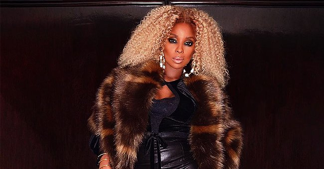 Mary J Blige Stuns in Tight Leather Pants, Fur Coat & Thigh-High Boots in Photo