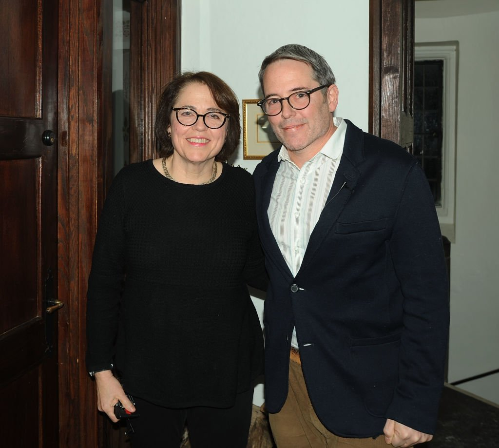 "Actor Matthew Broderick and his sister Reverend Janet Broderick backstage at the reading of ""Truman Capote's A Christmas Memory"" A Reading By Matthew Broderick at St Peter's Episcopal Church on January 5, 2018 