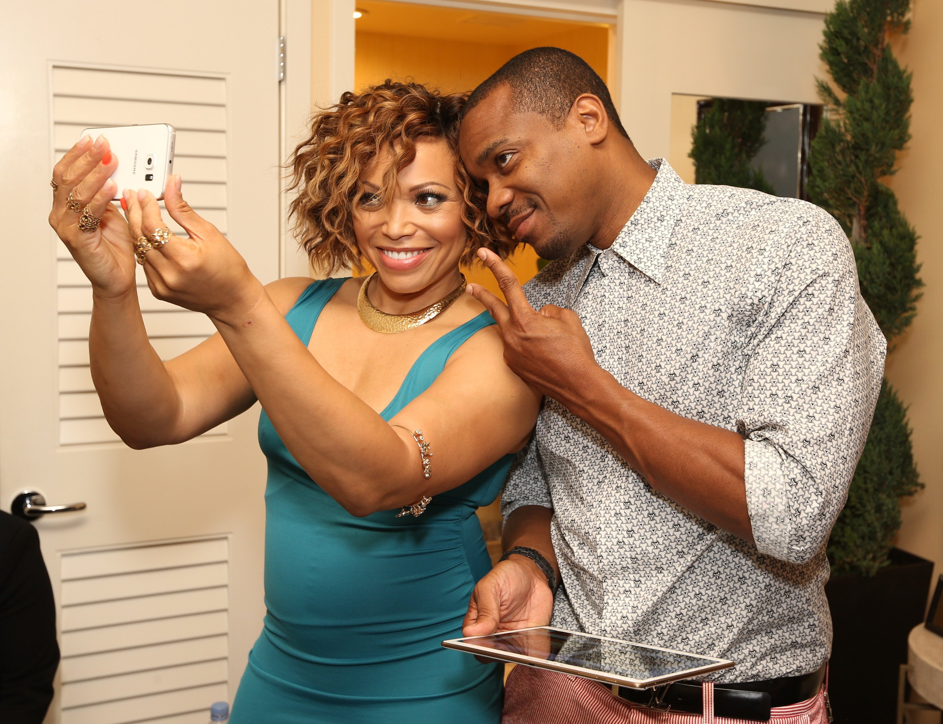 Tisha Campbell-Martin and Duane Martin attend the Getty Images Portrait Studio at The Beverly Hilton Hotel on August 4, 2015. | Photo: GettyImages