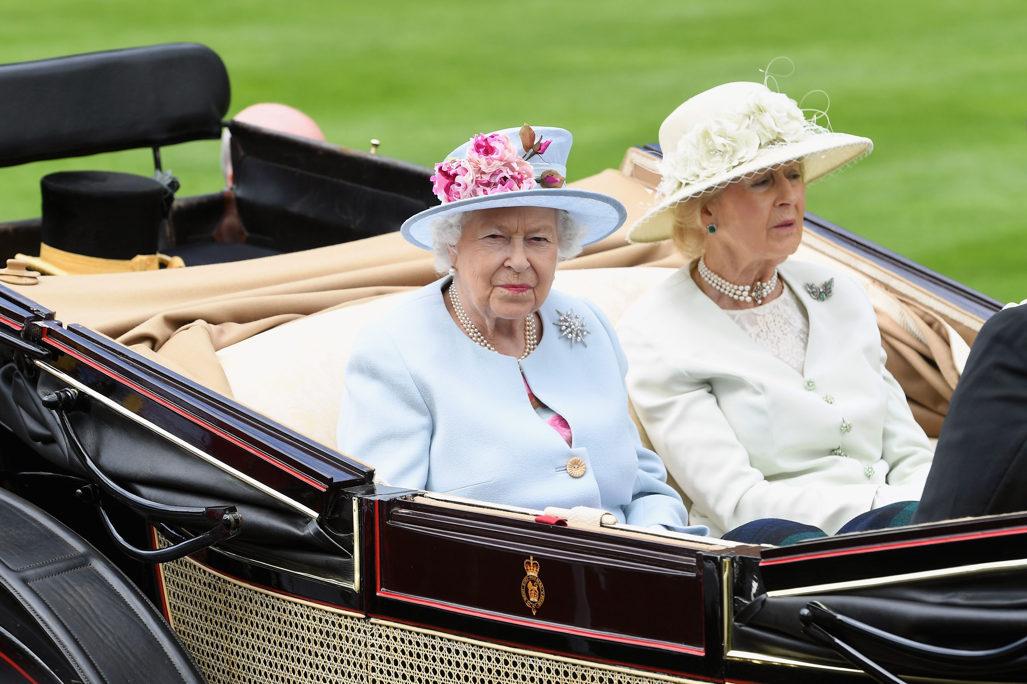 Queen Elizabeth II and Princess Alexandra, The Honourable Lady Ogilvy at the royal procession on day 2 of Royal Ascot at Ascot Racecourse on June 20, 2018 | Photo: Getty Images
