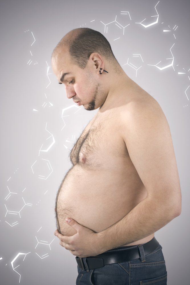 Un homme enceinte.  Source : Shutterstock