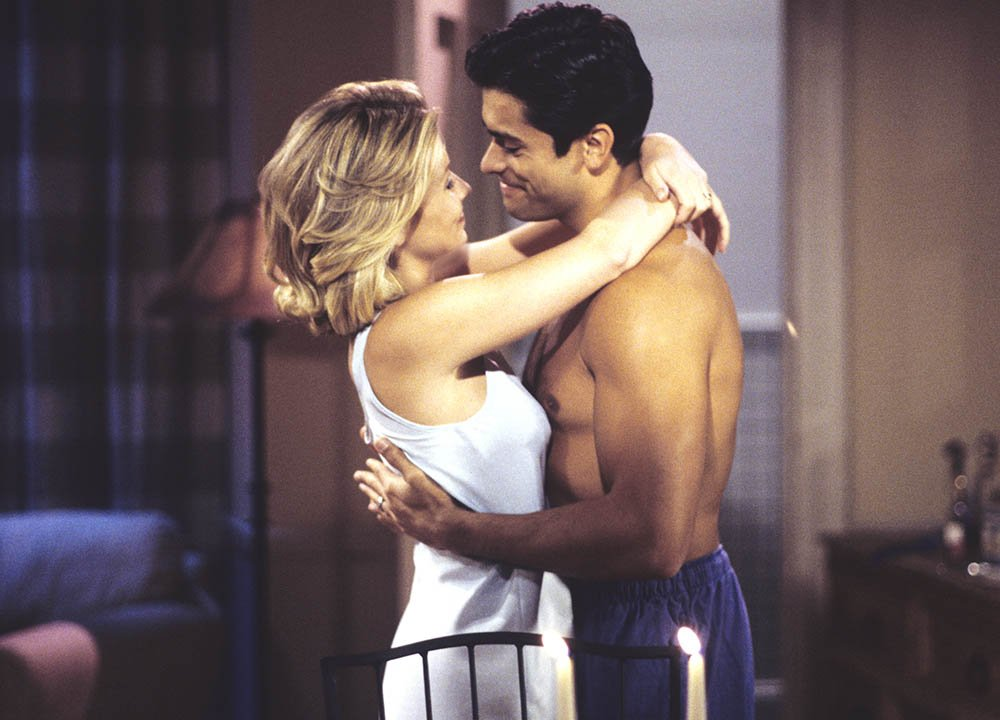 "Kelly Ripa and Mark Consuelos in ""All Our Children."" I Image: Getty Images."