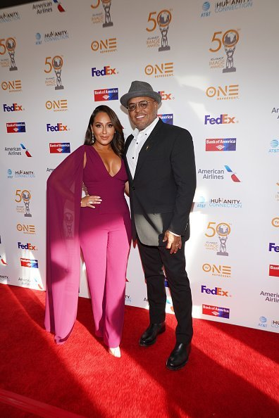 Adrienne Houghton and husband Israel Houghton at the 50th NAACP Image Awards on March 29, 2019 | Photo: Getty Images