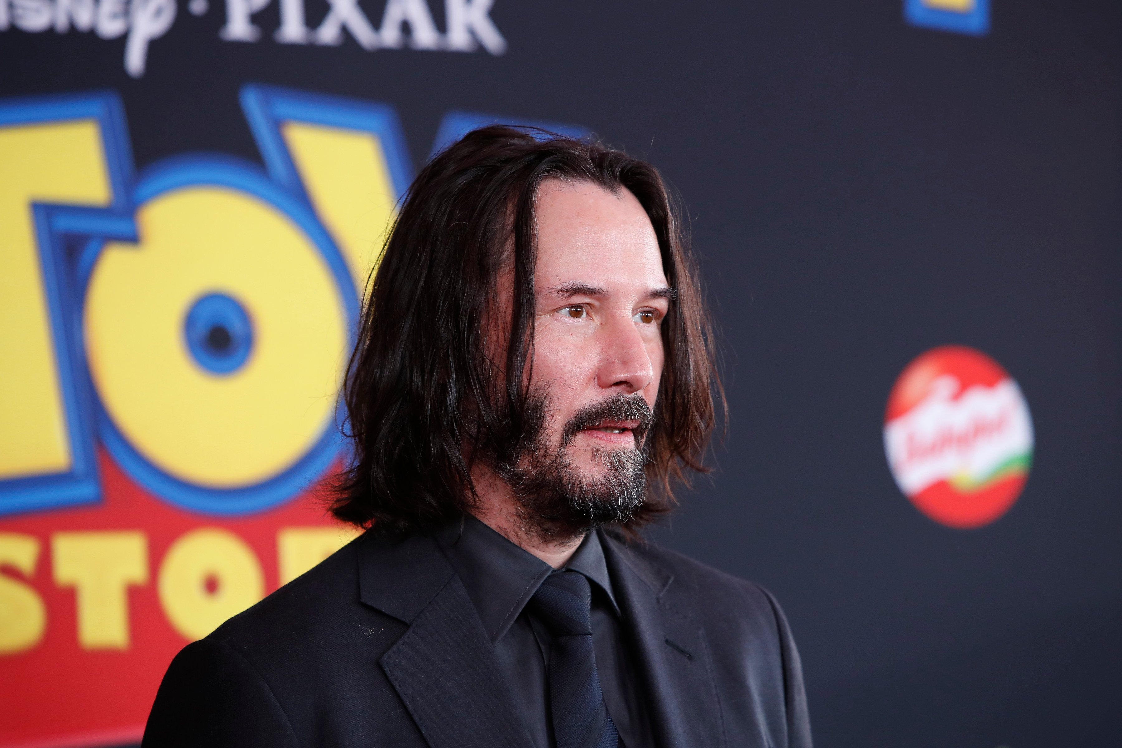 """Keanu Reeves attends the premiere of """"Toy Story 4"""" at Hollywood's El Capitan Theatre in June 2019 