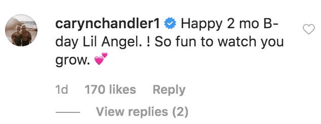 Caryn Chandler comments on Tori Roloff's post about her daughter Lilah Ray Roloff turning two months old | Source: instagram.com/toriroloff